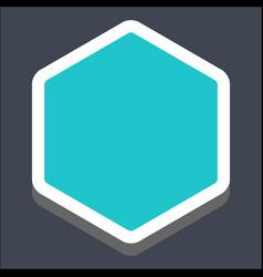 3d flat blank hexagon web button vector image