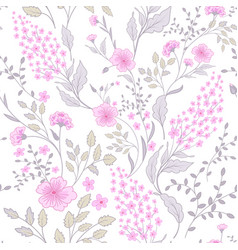 Calico delicate pink green colors pattern cute vector