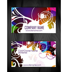 Floral style business card design vector