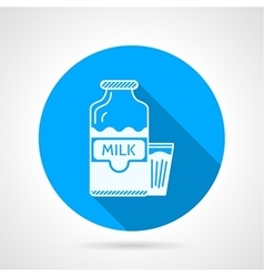 Contour icon for milk vector