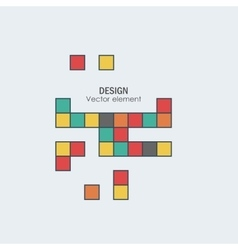 Game tetris square template brick game pieces vector