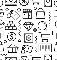 Different shopping seamless pattern vector