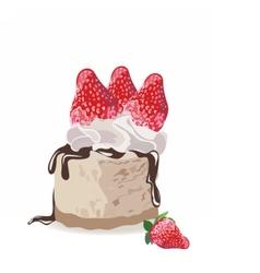 A piece of delicious cake vector image vector image