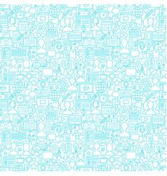 Blog white line seamless pattern vector