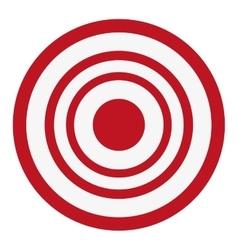 Bullseye target icon vector
