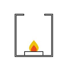Burner laboratory isolated icon vector