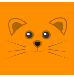 Cute orange mouse face background vector