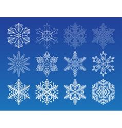 decorative snowflakes set - winter series clip-art vector image vector image