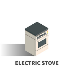 electric stove icon symbol vector image