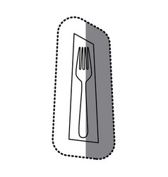 figure fork picture decorative icon vector image