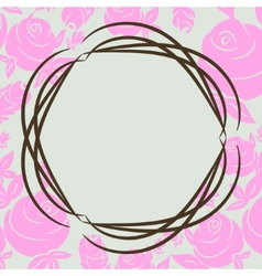 Frame pink flowers vector image vector image