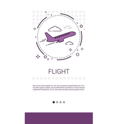 Fright plane tickets online booking service banner vector