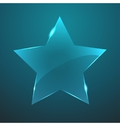 glass star icon Eps10 vector image vector image