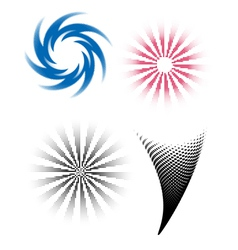 HalftoneTwirls vector image vector image