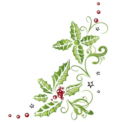 Holly christmas vector image