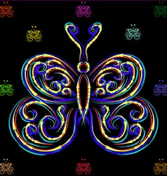 Large and small butterflies vector image vector image