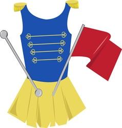Majorette uniform vector