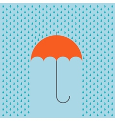 Modern umbrella with rain background vector