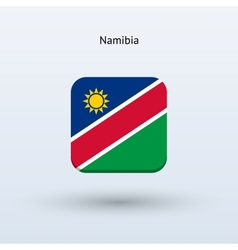 Namibia flag icon vector