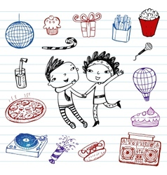 Party - doodle set vector image vector image