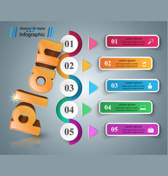Plan 3d business infographics vector