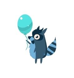 Raccoon party animal icon vector