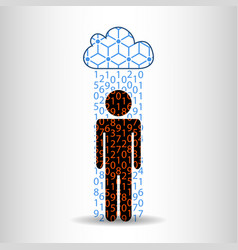 Rain information man vector