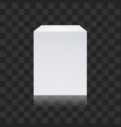 realistic white cube isolated on transparent vector image