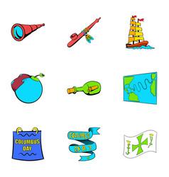 Spica icons set cartoon style vector