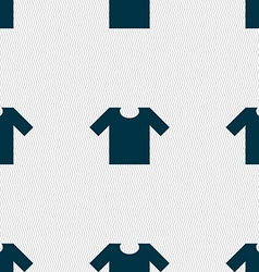 T-shirt icon sign seamless pattern with geometric vector