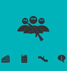 terrorist balaclava mask icon flat vector image vector image