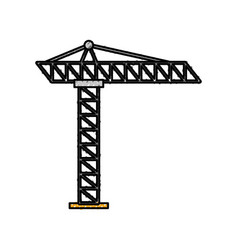 tower construction site scaffolding project icon vector image