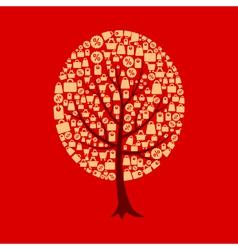 Tree sale vector image vector image