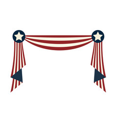 Usa decoration element design to special days vector