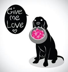 Valentine dog vector