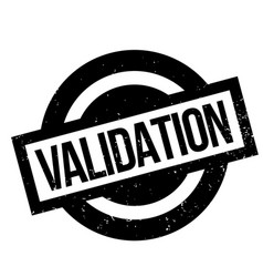 Validation rubber stamp vector
