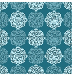 White lace flower pattern on navy blue background vector