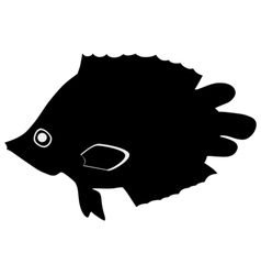 Silhouette of leaf fish vector