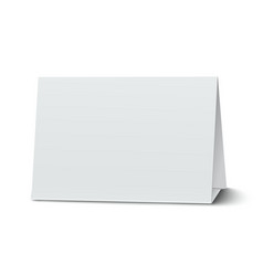 Horizontal blank paper table card isolated vector