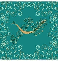 Vintage fairy bird vector