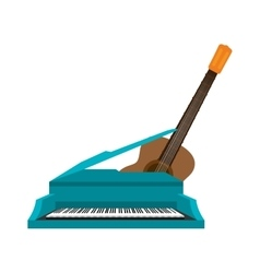 Guitar and piano instrument isolated icon vector