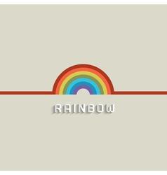 Stylish Rainbow design vector image
