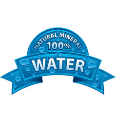 Natural water banner vector