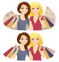 Shopping together vector