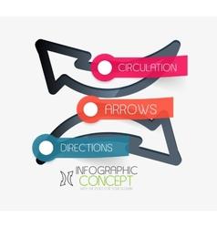 circulation arrows infographic concept vector image