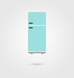 refrigerator icon with shadow vector image