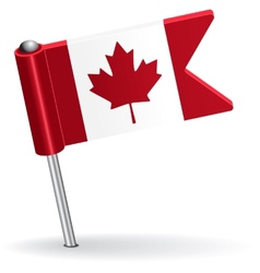 Canadian pin icon flag vector