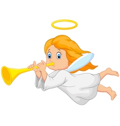 Cartoon cute angel vector image