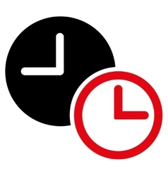 Clocks flat icon vector