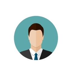 Businessman flat style icon vector image